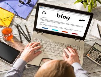 blogger writing a blog